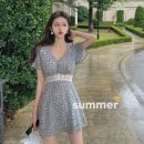 Dress Summer 2021 Picture color S,M,L Short skirt singleton  Short sleeve commute V-neck Broken flowers Socket other other Others 18-24 years old Type A Korean version 31% (inclusive) - 50% (inclusive)