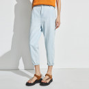 Jeans Summer 2021 Solid light blue XS S M L XL Ninth pants Natural waist Straight pants routine 30-34 years old light colour OD1301326 OTT Cotton 100%
