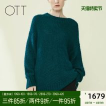 Wool knitwear Winter of 2019 S M Long sleeves singleton  Socket acrylic fibres 31% (inclusive) - 50% (inclusive) Regular commute Straight cylinder Low crew neck routine Solid color Socket Simplicity 30-34 years old OTT Asymmetry Same model in shopping mall (sold online and offline)