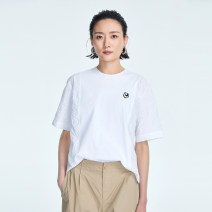 T-shirt Ca02 solid white ch20 solid dark blue 36 38 40 42 Spring 2021 elbow sleeve Crew neck easy Regular routine commute cotton 96% and above 30-34 years old Simplicity other OTT OD1100911 Splicing Cotton 100%