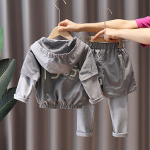 suit Retogel Grey black 80cm 90cm 100cm 110cm 120cm male spring and autumn leisure time Long sleeve + pants 2 pieces routine No model Socket No detachable cap other other children Giving presents at school LT115347005TZ Other 100% Chinese Mainland