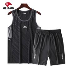 Leisure sports suit summer M,L,XL,2XL,3XL Black, white, light blue, blue gray, dark blue Sleeveless Fierce Pant youth T-shirt polyester fiber 2021