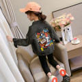 Plain coat Jiali cat female 110cm 120cm 130cm 140cm 150cm 160cm Blue black spring and autumn Korean version Single breasted There are models in the real shooting routine nothing Cartoon animation cotton square neck Net red denim coat Cotton 57.1% polyester 23.2% viscose 19.7% Class B Autumn 2020