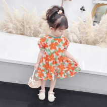 Dress orange female McDonnell 80cm 90cm 100cm 110cm 120cm 130cm Other 100% summer Korean version Short sleeve other other MDD-45632185453 Class A Summer 2021 12 months, 18 months, 2 years old, 3 years old, 4 years old, 5 years old, 6 years old and 7 years old Chinese Mainland Guangdong Province