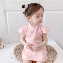 Dress Pink female McDonnell 80cm 90cm 100cm 110cm 120cm 130cm Other 100% summer Chinese style Short sleeve other other other MDD-110520320 Class A Summer 2021 12 months, 18 months, 2 years old, 3 years old, 4 years old, 5 years old, 6 years old and 7 years old Chinese Mainland Guangdong Province