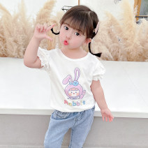 T-shirt White pink grey McDonnell 80cm 90cm 100cm 110cm 120cm 130cm female summer Short sleeve Crew neck Korean version There are models in the real shooting nothing other other Other 100% MDD-01120332150 Class A Summer 2021 Chinese Mainland Guangdong Province Jiangmen City