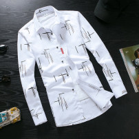 shirt Youth fashion Viettolons XXL 8857 white routine 8856-1 Polyester 100% Autumn of 2018 Pure e-commerce (online only)
