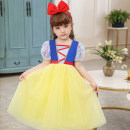 Dress female Other / other Other 100% No season princess Short sleeve Broken flowers cotton A-line skirt K12 Class B 2, 3, 4, 5, 6, 7, 8, 9, 10, 11, 12 years old Chinese Mainland