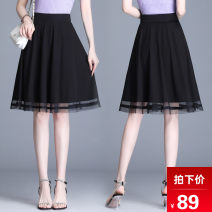 skirt Summer 2020 M L XL 2XL 3XL 4XL black Short skirt Versatile High waist Pleated skirt other Type A 25-29 years old BBJ-99065K 91% (inclusive) - 95% (inclusive) other Bibigan polyester fiber Mesh splicing Other polyester 95% 5% Pure e-commerce (online only)