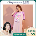 Nightdress Osaka weaving house S M L XL lovely Short sleeve Leisure home Middle-skirt summer Cartoon animation youth Crew neck cotton printing 81% (inclusive) - 95% (inclusive) Knitted cotton fabric Summer 2021 Cotton 94% polyurethane elastic fiber (spandex) 6% Pure e-commerce (online only)