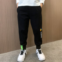 trousers extremely male 110cm 120cm 130cm 140cm 150cm 160cm spring and autumn trousers leisure time There are models in the real shooting Casual pants Leather belt middle-waisted cotton Don't open the crotch Other 100% Spring 2021 Chinese Mainland