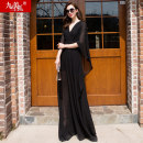 Dress Summer of 2018 Black red pink SMLXLXXL longuette street 30-34 years old Jiumei snow fox JMXHLYQ268 Polyester 100% Europe and America
