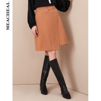 skirt Autumn of 2019 155/34/S 160/36/M 165/38/L 170/40/XL Camel yellow Short skirt commute High waist A-line skirt Solid color Type A 30-34 years old 71% (inclusive) - 80% (inclusive) MEACHEAL polyester fiber rivet Ol style Same model in shopping mall (sold online and offline)
