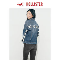short coat Summer of 2018 XSSMLXL Dark color 18-24 years old Hollister two hundred and three thousand eight hundred and forty-five Cotton 98% polyurethane elastic fiber (spandex) 2% Same model in shopping mall (sold online and offline)