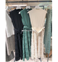 Dress Autumn of 2019 Black, forest green, light gray Average size C9-3