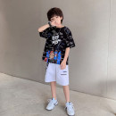 suit Young master 135cm 145cm 155cm 165cm 175cm male summer fashion Short sleeve + pants 2 pieces Thin money There are models in the real shooting Socket nothing Cartoon animation cotton children Expression of love Class B Cotton 95% other 5% Summer 2021 Chinese Mainland Shandong Province Weihai City