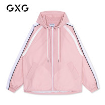 Jacket GXG Youth fashion Pink 190/XXXL,170/M,175/L,180/XL,185/XXL,165/S thin standard Other leisure spring GY121006A Other 100% Long sleeves Wear out Hood tide youth routine Zipper placket Cloth hem Closing sleeve Solid color other