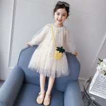Dress female Heinimu 110cm 120cm 130cm 140cm 150cm 160cm Other 100% spring and autumn Korean version Long sleeves other other A-line skirt Class B Spring 2021 3 years old, 4 years old, 5 years old, 6 years old, 7 years old, 8 years old, 9 years old, 10 years old, 11 years old, 12 years old
