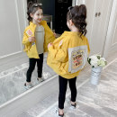 Plain coat Heinimu female 110cm 120cm 130cm 140cm 150cm 160cm Yellow light card collection plus 2021 foreign style jacket priority delivery spring and autumn Korean version Zipper shirt There are models in the real shooting routine nothing Solid color Cotton blended fabric Crew neck WT0072 Other 100%