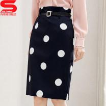 skirt Spring 2021 M L XL 2XL Dot Short skirt commute High waist skirt Dot 30-34 years old 030829w 81% (inclusive) - 90% (inclusive) Sidina polyester fiber Korean version Polyester 89.2% polyurethane elastic fiber (spandex) 10.8% Pure e-commerce (online only)