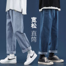 Jeans Youth fashion H-75 M L XL 2XL 3XL 4XL Thin money Micro bomb Thin denim S8 Ninth pants summer youth middle-waisted Loose straight tube tide 2021 Straight foot Three dimensional tailoring Summer 2021 cotton Pure e-commerce (online only)