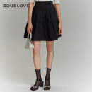 skirt Spring 2021 2/S 3/M 4/L 5/XL black Short skirt Sweet High waist Cake skirt Solid color Type A 25-29 years old DFGPA3102A 51% (inclusive) - 70% (inclusive) other DOUBLE LOVE cotton fold Cotton 64.9% polyester 35.1% Same model in shopping mall (sold online and offline) Ruili
