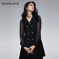 Dress Spring 2021 black 2/S 3/M 4/L 5/XL Short skirt singleton  Long sleeves Sweet other middle-waisted other Pleated skirt routine Others 25-29 years old Type X DOUBLE LOVE Pleated button More than 95% other other Other 100% Ruili Same model in shopping mall (sold online and offline)