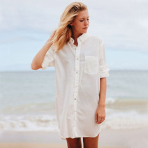 Wrap / drape Cream beach shirt be exquisitely dainty and ravishingly beautiful Q190112 Spring of 2019