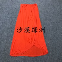 skirt Autumn of 2019 XL Picture color longuette commute Natural waist A-line skirt Solid color Type A 25-29 years old Chiffon polyester fiber fold