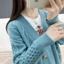 Wool knitwear Spring of 2019 S M L XL Khaki red rose red yellow white blue Long sleeves singleton  Cardigan other More than 95% Regular thickening commute easy other routine other Single breasted Korean version T10264 25-29 years old Shebetsy Other 100% Exclusive payment of tmall