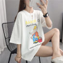 T-shirt Pink white red green black S M L XL Summer 2021 elbow sleeve Crew neck easy Regular routine commute other 96% and above Korean version youth Cartoon animation Shebetsy X5520 Other 100% Pure e-commerce (online only)