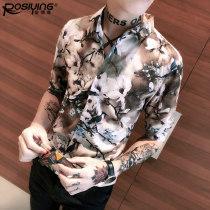 shirt Youth fashion Posiying / Castle lion Eagle 3XL Cs49 Decor routine BSY17CS049 Polyester 97% polyurethane elastic fiber (spandex) 3% Summer of 2018