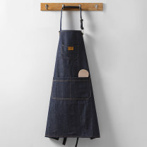 apron Blue jeans Sleeveless apron antifouling Simplicity other Personal washing / cleaning / care Average size Wq014 denim apron Manmiao public Idyllic