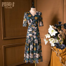 Dress Spring 2021 Decor S M L XL Mid length dress 35-39 years old Four inches / 4 inches 51% (inclusive) - 70% (inclusive) cotton Cotton 65% polyester 35%