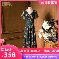 Dress Spring 2021 Decor M L XL XXL Mid length dress 35-39 years old Four inches / 4 inches More than 95% polyester fiber Polyester 95% polyurethane elastic fiber (spandex) 5%