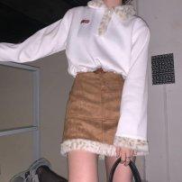 Fashion suit Winter 2020 S,M,L White jacket, Khaki Skirt, white jacket + Khaki Skirt Other / other 1-Zw8bP7hw