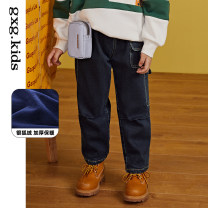 trousers gxg kids male 110cm 120cm 130cm 140cm 150cm 160cm Denim a denim B winter trousers There are models in the real shooting Jeans Leather belt middle-waisted other Don't open the crotch Cotton 68% polyester 26.8% polyurethane elastic 2.8% others 2.4% KB105004K other KB105004K Winter 2020
