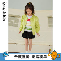 Plain coat gxg kids female 110/56 120/60 130/64 140/64 150/68 Green a green B spring and autumn leisure time Zipper shirt There are models in the real shooting routine nothing other other 12C221009A Polyester 100% other Spring 2021