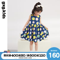 Dress Navy navy a Navy B female gxg kids 110/56 120/60 130/64 140/64 150/68 Cotton 100% summer leisure time Pure cotton (100% cotton content) other 12C235007C Class B Summer 2021