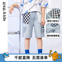 trousers gxg kids male 110/53 120/56 130/59 140/57 150/60 Light blue light blue a light blue B spring and autumn shorts leisure time There are models in the real shooting Casual pants Leather belt middle-waisted other Don't open the crotch Cotton 88.4% viscose 6.7% polyester 4.9% 12C125001B Class B