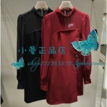 Dress Autumn of 2018 Red (non returnable) black (non returnable) 4 6 8 10 Sweet Emmanuel K3461605 More than 95% Crepe de Chine