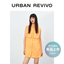 Dress Summer 2021 orange S XL L M Short skirt Sleeveless other middle-waisted other 25-29 years old UR YV11S7BN2004 More than 95% cotton Cotton 100% Same model in shopping mall (sold online and offline)