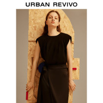 shirt It's black S XL XS L M Summer 2021 polyester fiber 96% and above Sleeveless Original design Regular Crew neck routine other 25-29 years old UR WG16S2CN2027 Polyester 100% Same model in shopping mall (sold online and offline)