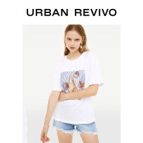 T-shirt Benbai S M L XL Summer of 2019 Short sleeve Crew neck Regular routine cotton 96% and above 25-29 years old UR printing Cotton 100% Same model in shopping mall (sold online and offline)