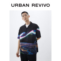 shirt Youth fashion UR S XL L M Black grey print Thin money other Short sleeve standard Other leisure summer MV13S2GN2000 youth Viscose (viscose) 100% Summer 2020 Same model in shopping mall (sold online and offline)