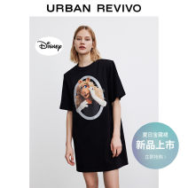 Dress Summer 2021 It's black S XL XS L M XXL Short skirt Short sleeve Crew neck middle-waisted other other 25-29 years old UR WJ13S7BN2001 More than 95% other cotton Cotton 100% Same model in shopping mall (sold online and offline)