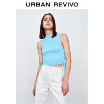 Wool knitwear Summer 2021 S XL L M Cyan blue Short sleeve Viscose 51% (inclusive) - 70% (inclusive) Regular YV12S9AN2001 25-29 years old UR Viscose (viscose) 52% polyamide (nylon) 48% Same model in shopping mall (sold online and offline)