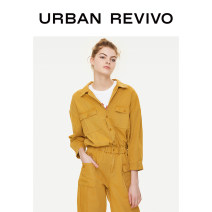 Jeans Summer of 2019 Warm yellow S M L XL Ninth pants Natural waist Pencil pants Thin money 25-29 years old Cotton elastic denim UR 96% and above Cotton 100% Same model in shopping mall (sold online and offline)