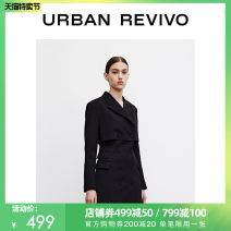 Dress Summer 2021 It's black S XL XS L M Short skirt Long sleeves other middle-waisted routine 25-29 years old UR WG06S7DN2000 More than 95% polyester fiber Polyester 100% Same model in shopping mall (sold online and offline)