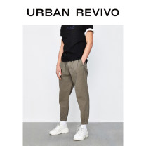 Casual pants UR Youth fashion Medium grey 34 36 29 30 31 32 routine trousers Other leisure Straight cylinder ML06S6KF2000 summer youth middle-waisted Cotton 99% polyurethane elastic fiber (spandex) 1% Summer 2021 Same model in shopping mall (sold online and offline)